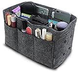 Pelikus Felt Purse and Tote Organizer Insert / Sturdy Handbag Shaper (Medium, Grey)