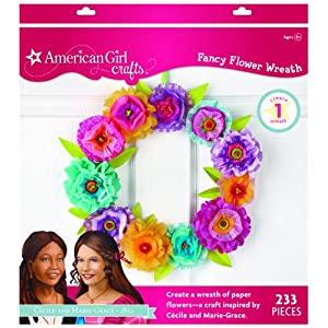 EK Success American Girl Crafts Wreath Kit, Cecile and Marie-Grace Paper Flower 117