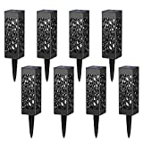 Solar Lights Outdoor Wloomm Solar Powered LED Garden Lights, Automatic LED Pathway Lights for Patio, Yard and Garden(8 Packs)