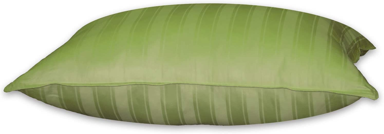 Blue Ridge Home Fashions 330 Thread Count Beauty Stripe Hybrid Blend Pillow, Jumbo, Scar