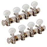 Head Tuner Tuning Peg Key Button + Bushing for Mandolin Machine (Pack of 2)