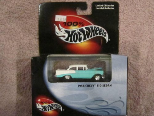 100% Hot Wheels Collectibles 1956 CHEVY 210 SEDAN Limited Ed