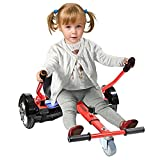 Cool Mini Hoverboard Kart Accessories Adjustable for -All Heights- All Ages-Two Wheel Self Balancing Scooter -Compatible with All Hoverboards,Like A Go-Kart(Red)(Not Included Balance Board