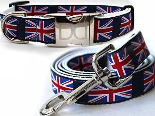 London Calling Dog Collar and Leash - Size M/L ()
