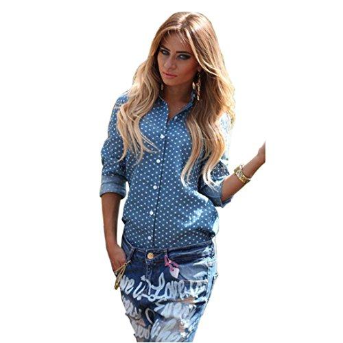 Baring Back Dress - Wensltd Women Blue Long Sleeved Shirt Baring Back TOP (10)