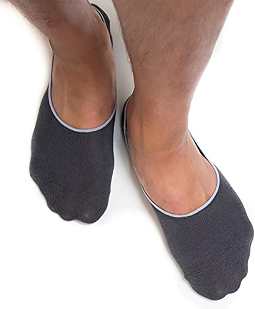 Thirty48 Men's No Show Socks Non-Slip Silicon Grip Moisture Wicking Low Cut Invisible Casual Socks
