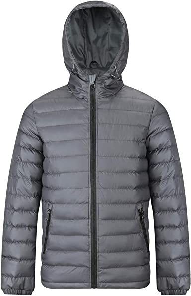 MADHERO Men's Puffer Jacket Water-Resistant Insulated Down ...