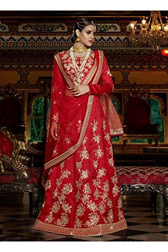 PCC Indian Women Designer Wedding Red Lehenga Choli R-15955