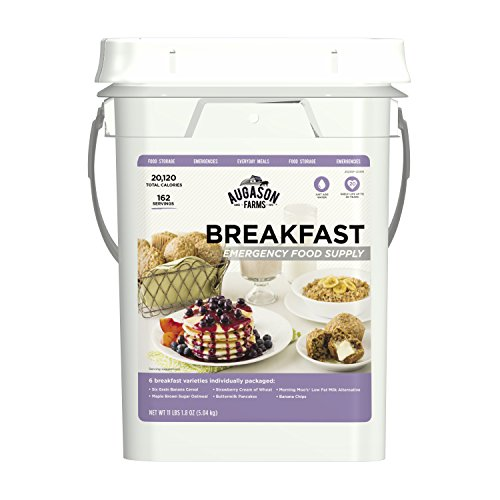 Augason Farms Breakfast Emergency Food Supply 11 lbs 1.8 oz 4 Gallon Pail