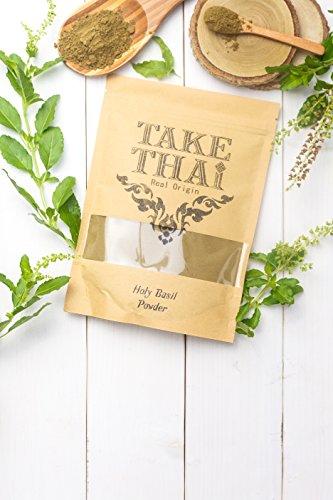 Take Thai Real Origin : Holy basil Powder, 100% Pure(Tulasi,Tulsi,Ocimum tenuiflorum) (50 Grams)
