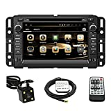 TLTek 7 inch HD 1024*600 Muti-touch Screen Car GPS Navigation System For GMC Yukon 2007-2014 Acadia 2007-2012 Chevrolet Tahoe 2007-2014 Buick Enclave 2008-2012 Chevrolet Suburban 2007-2014 Android DVD Player+Backup Camera+North America Map