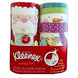 Kleenex Perfect Fit Cylinder Christmas Holiday Tissues 2 Pack Santa & Snowman