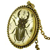Schmutzerland Vintage Stag Beetle Insect Necklace Pendant Made in the USA
