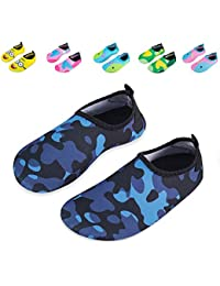 43ddc6568146 Kids Swim Water Shoes Non-Slip Quick Dry Barefoot Aqua Pool Socks Shoes for  Boys
