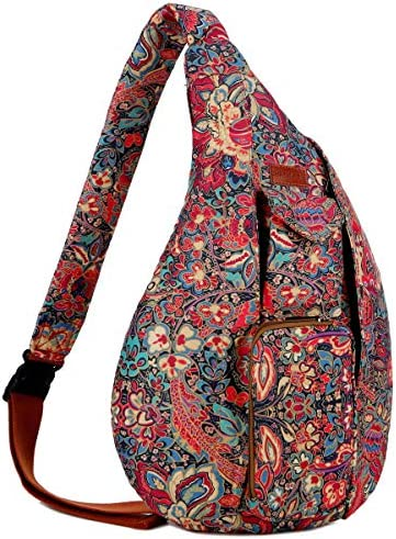 BAOSHA Pattern Sling backpack Crossbody Shoulder Chest Bag Travel Hiking Daypack