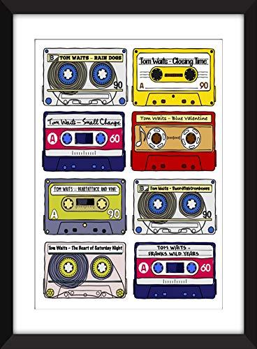 Tom Waits Albums - Unframed Retro Cassette Print - Ideal Gift for Tom Waits Fan