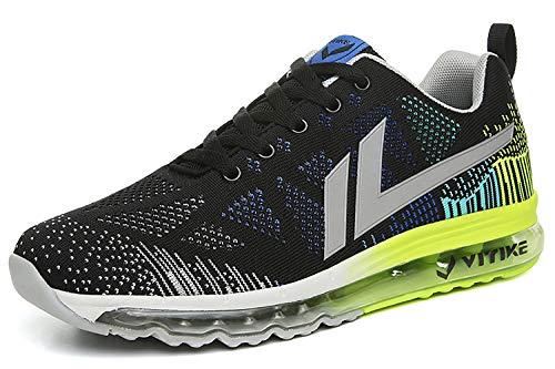 ASHION 3 Sportive Casual all'Aperto Interior Running Ginnastica Uomo Sneakers nero Scarpe Air Basse da Corsa Fitness xwraTpx1q