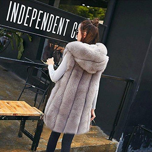 Di Grigia Di Inverno Di Cappuccio Spesso Sportiva Tuta Delle Lungo Cappotto Harrystore Caldo Volpe pelliccia Donne Eco Con RqZ0Sw