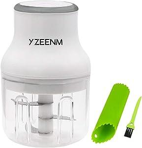 Electric Mini Garlic Chopper, USB PortableFood Chopper, Grinder for Meat Vegetable, IP68 Waterproof Three Blade Are More Powerful Cut Garlic, Fruits, Vegetables, Onions, Salad250ML