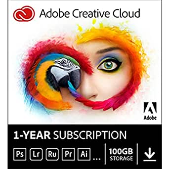Adobe Creative Cloud   1 Year Subscription (Download)