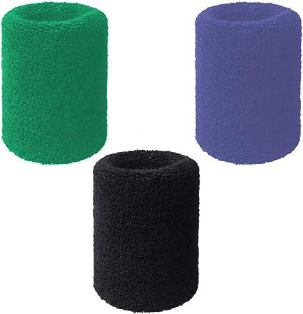 Zihuist Algodón Muñequera Piezas Muñequera Wristbands Muñequeras Sudor Sports Cotton Elastic Absorbente Transpirable Espesar Suave for Unisex Fútbol Béisbol Tenis 3 unids/Set: Amazon.es: Hogar