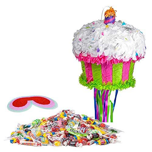 Costume SuperCenter Cupcake Pinata Kit (Pull String Pinata Cupcake)