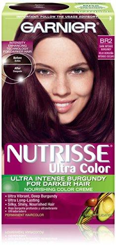 Garnier Nutrisse Couleur des cheveux couleur ultra nourrissant couleur crème, Br2 foncé Bourgogne Intense