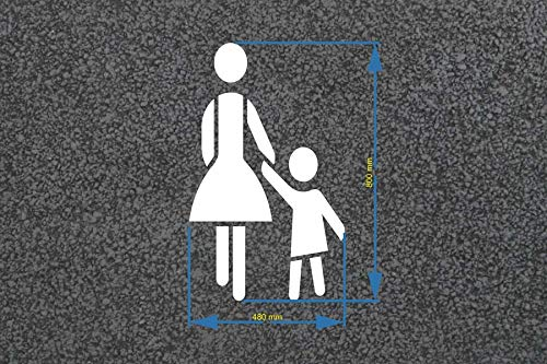 Mutter mit Kind Bodenmarkierungs-Schablone