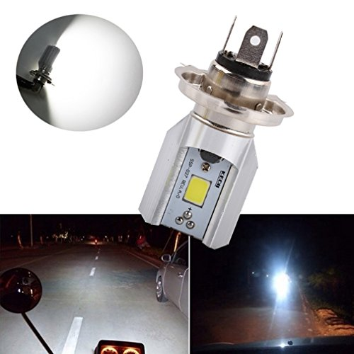 S&D H4 Led Motorcycle Headlight Bulbs COB Led 1000LM H/L Lamp Scooter ATV Moto Accessories Fog Lights 6000K Xenon White (Mk4 Jetta Headlights Bulb compare prices)
