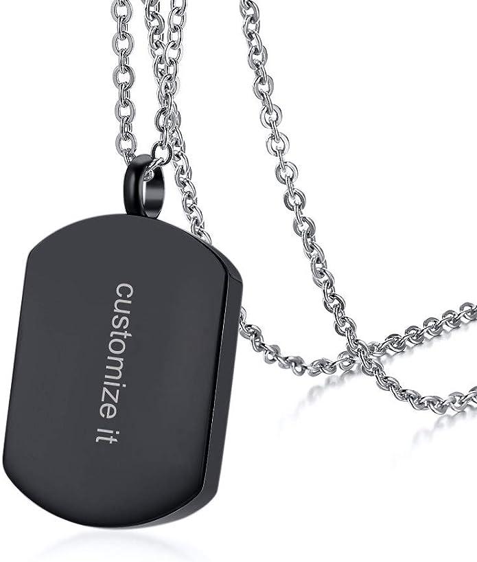 Custom Engraved Container Heart Dog Tag Switch Secret Capsule Cremation Ash Urn Pendant Necklace Personalized Secret Stash Locket Vial