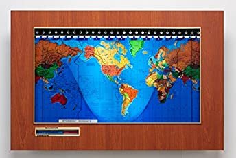 Amazon geochron geochron standard world clock boston cherry with black gumiabroncs Choice Image