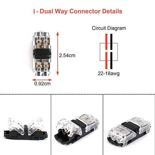 tyumen low voltage wire connectors  12pcs 2 pin 2 way universal compact wire i shape terminals