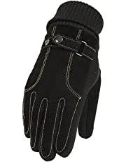 Mens Non-Slip Windproof Touch Screen Gloves Thermal Winter Gloves - 1 Pair Full Finger Multi-Functional Mitts Zhhlaixing