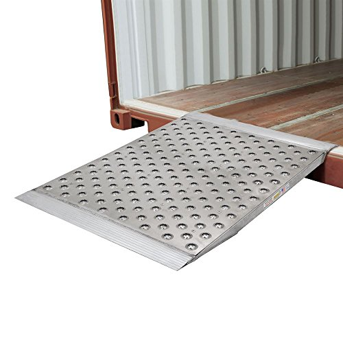 Guardian Aluminum Punch Plate Surface Shipping Container Ramp - 48''L x 36''W by Guardian Industrial Products