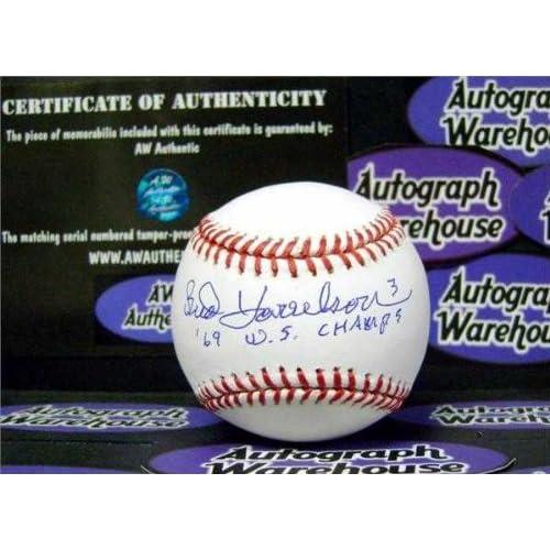 Bud Harrelson autographed Baseball (New York Mets 1969 World