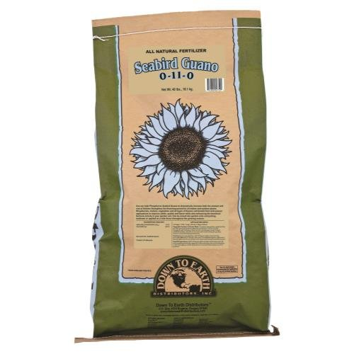 Down To Earth Seabird Guano 0-11-0 Fertilizer, 40 lb. by Down To Earth All Natural Fertilizers