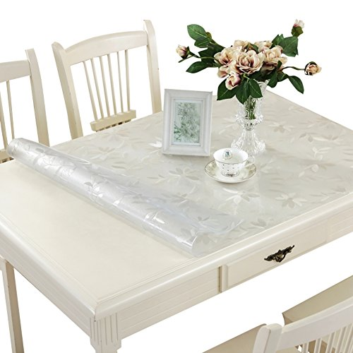 Pvc,waterproof table cloth/ burn-proof, soft glass table mat /transparent,frosted coffee table pad/ plastic tablecloths/crystal plate table mat-B 90x160cm(35x63inch) by HAKLLASDFNFDES (Image #1)