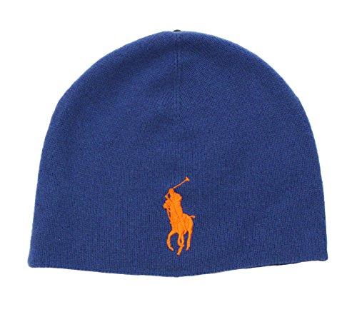 Polo Ralph Lauren Men Big Pony Merino Watch Hat (OS, Stadium Royal) - Big Polo Watch