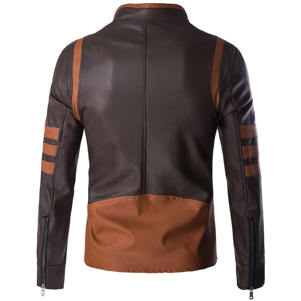 nihiug Chaquetas De Moto para Hombres Chaqueta De Cuero Impermeable para Ciclistas Chaqueta De Cuero Wolverine Impermeable Y Resistente para Abrigo
