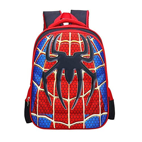 Children School Backpacks Spider Lightweight Students Bag For Boy 5-12 Years Old (L)