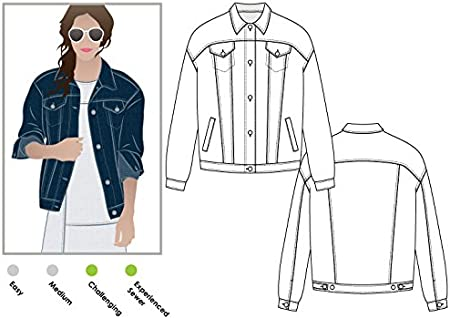 Sizes 04-16 ARC Style Sewing Pattern Stevie Jean Jacket - Click for Other