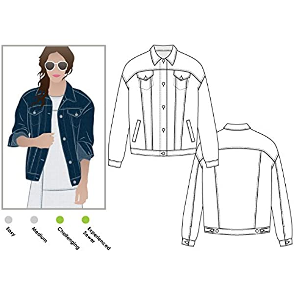 Sizes 18-30 Loren Jacket Style Arc Sewing Pattern - Click for Other Sizes Available