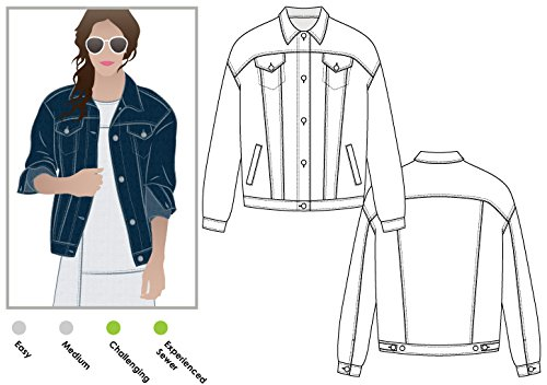 - Style Arc Sewing Pattern - Stevie Jean Jacket (Sizes 04-16) - Click for Other Sizes Available