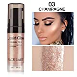 WENSY Liquid Glow Highlighter Lip Foundation Makeup Facial eye highlights Shimmer Cream Facial Bronzer Conto