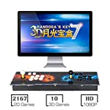 MYMIQEY 3D Pandora Key 7 Arcade Game Console | 2177 Retro HD Games | Add More Games | Full HD (1920x1080) Video | Support Multiplayer Online | 2 Player Game Controls | HDMI/VGA/USB/AUX Audio Output