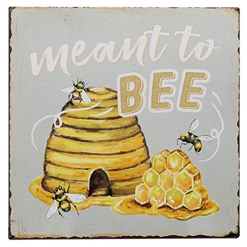 Barnyard Designs Meant to Bee Funny Retro Vintage Tin Bar Sign Country Decor
