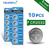 【5-Year Warranty】 CELEWELL 10 Pack CR2032 Battery CR2032H 230mAh 3 Volt Lithium Battery Coin Button Cell