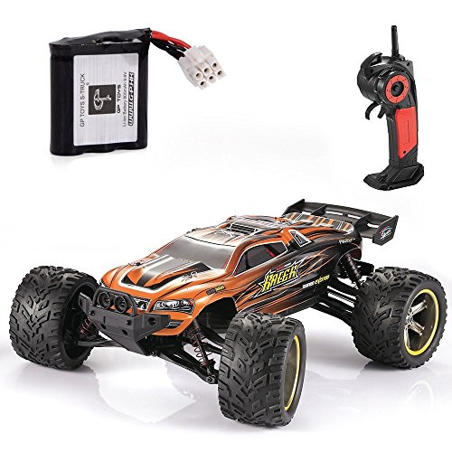 GPTOYS RC Cars S912 33MPH Remote Control Truck 1/12 Scale 2.4GHz 2WD Off-road Waterproof Monster Car-Best Gift for Kids and Adults – Orange (3rd Version)