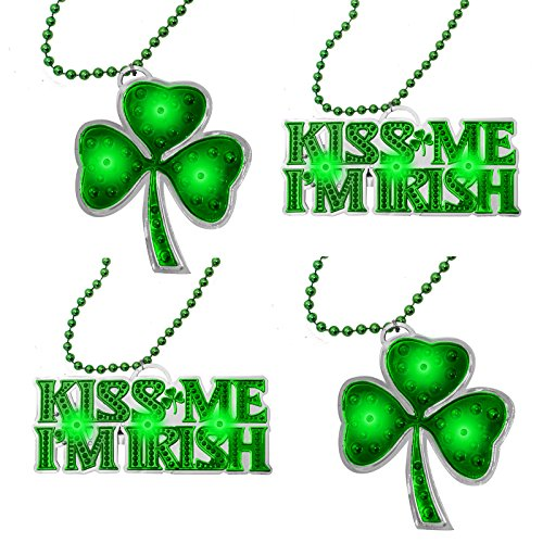 St Patrick's Day Light Up Necklaces (Pack of