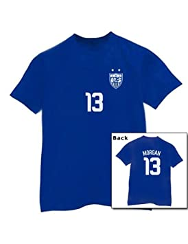 94946b48360 Alex Morgan Jersey Blue XXX-Large T-Shirt